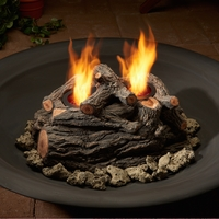 Real Flame 2-Can Outdoor Log Set in Oak
