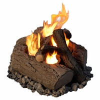 Real Flame 4-Can Outdoor Log Set in Oak