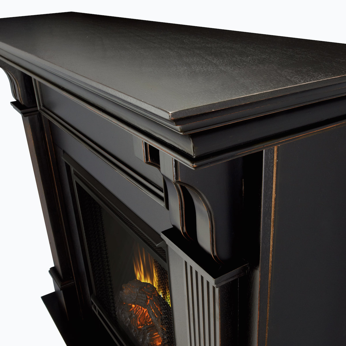 Real Flame Ashley Indoor Electric Fireplace In Black Wash