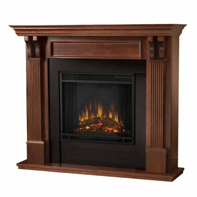Real Flame Ashley Indoor  Electric Fireplace in Mahogany