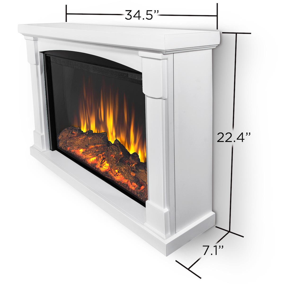 Real flame brighton slim line wall hung electric fireplace for Direct flame