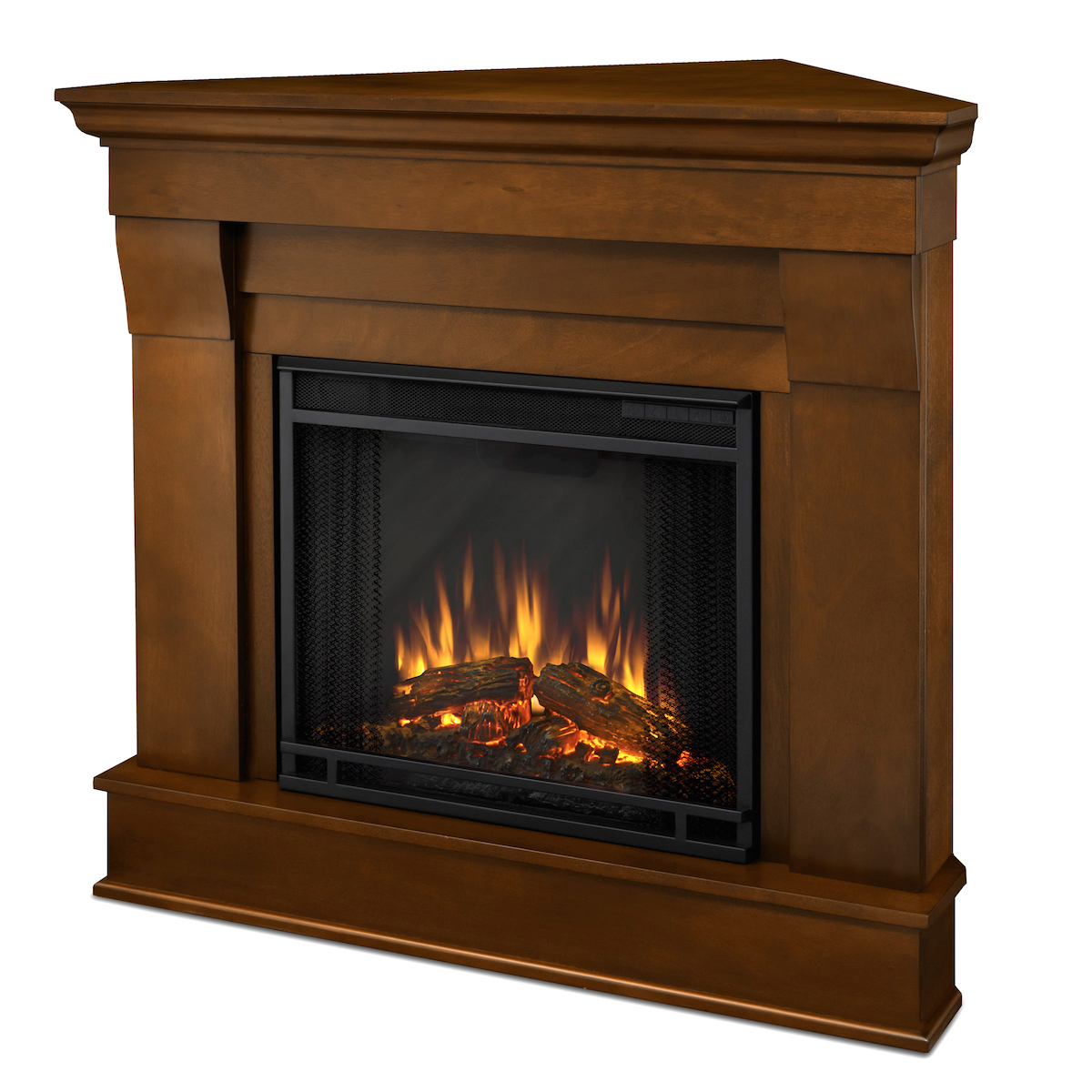 Real Flame Chateau Corner Electric Fireplace In Espresso