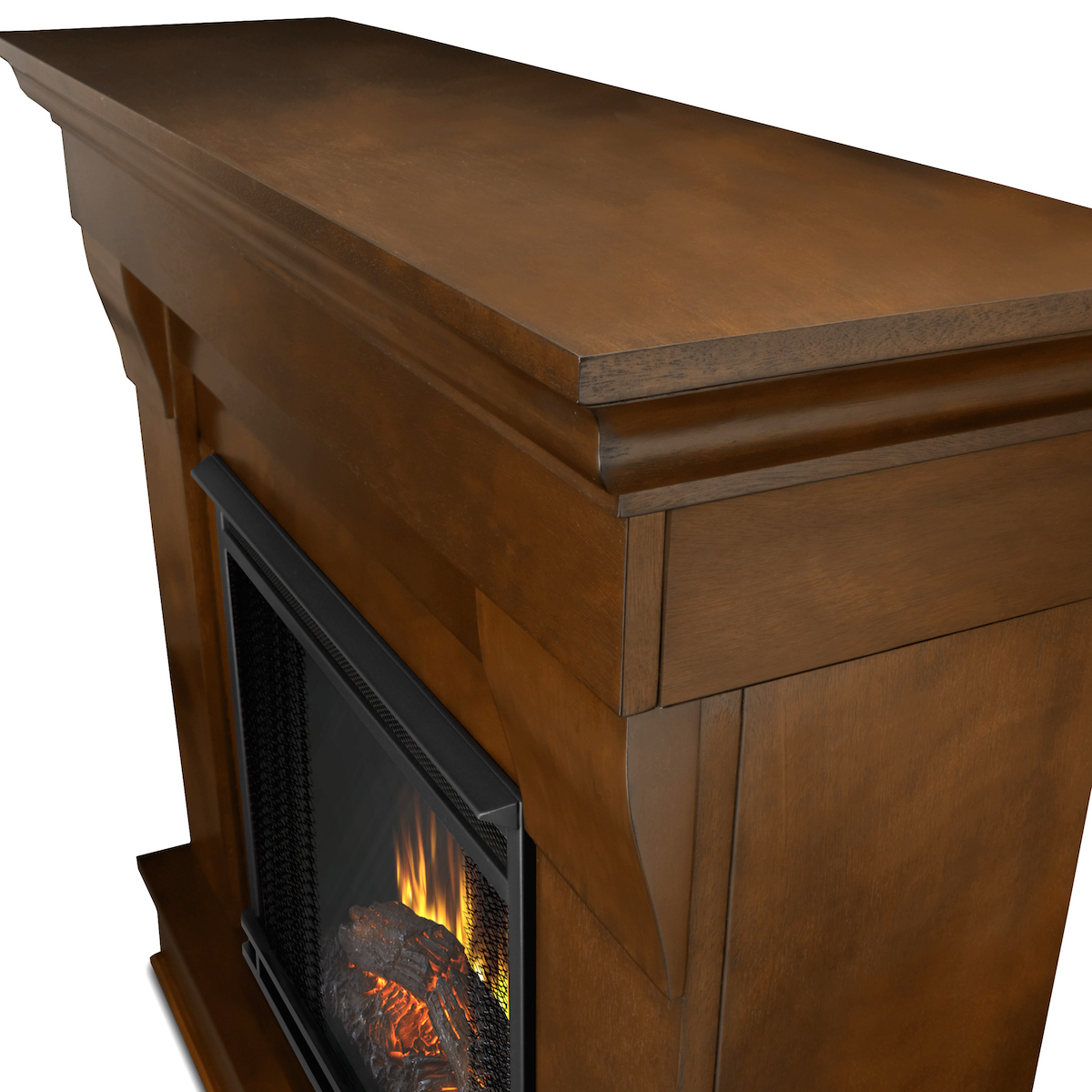 Real flame chateau electric fireplace in espresso for Direct flame