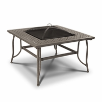 Real Flame Chelsea Wood Burning Outdoor Fire Pit Table