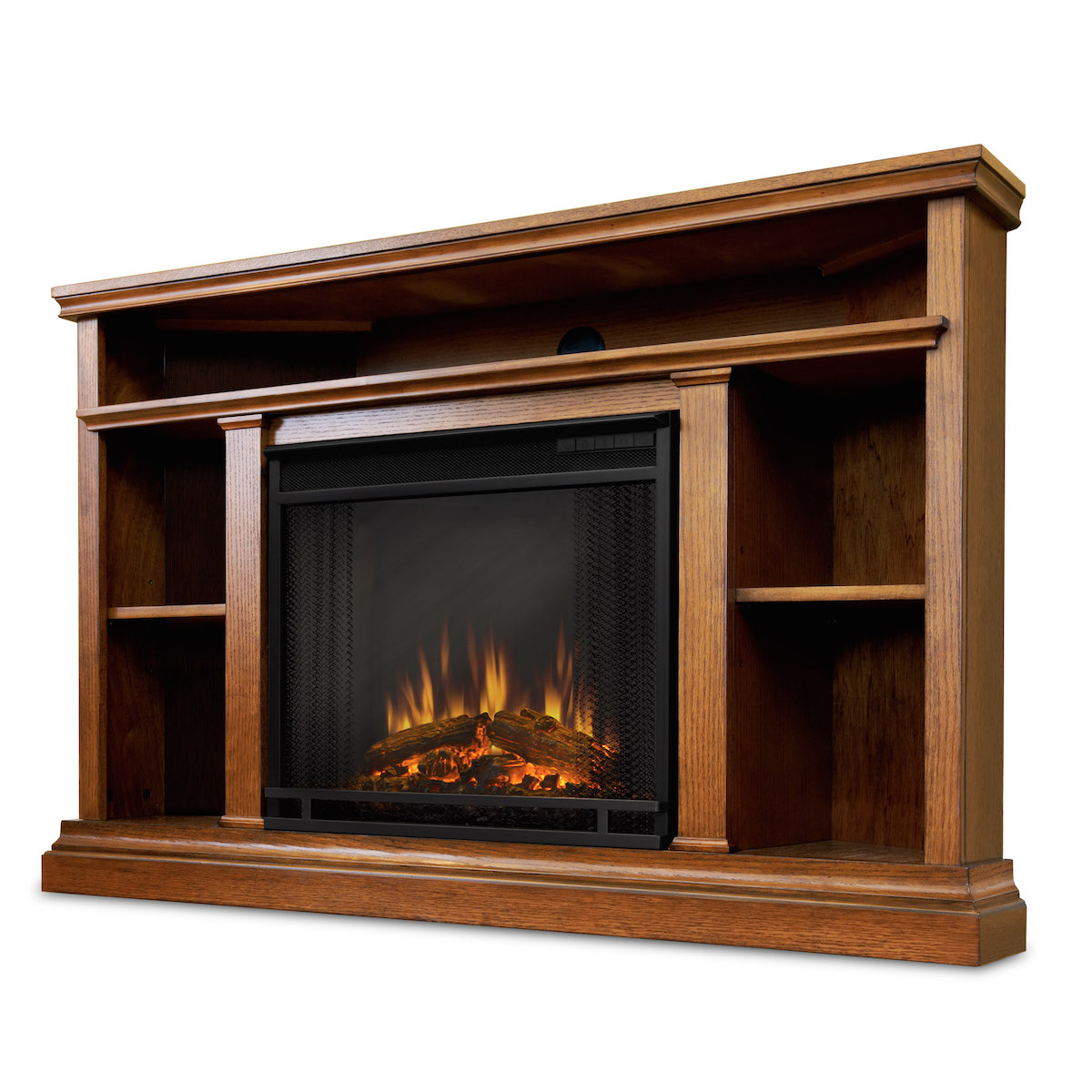 Real Flame Churchill Electric Fireplace in Oak