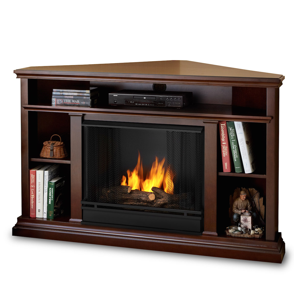 Real Flame Churchill Ventless Gel Fireplace In Dark Espresso