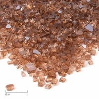 Real Flame Copper Reflective Fire Glass Filler