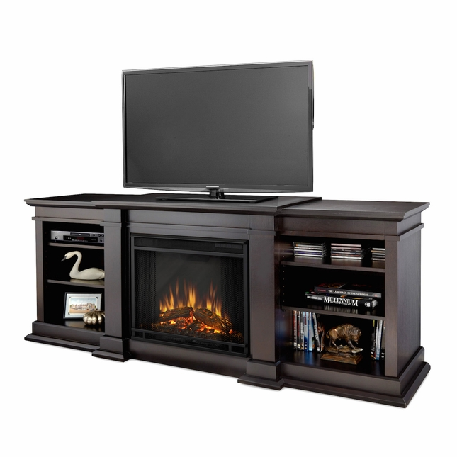 Real Flame Fresno Electric Fireplace in Dark Walnut