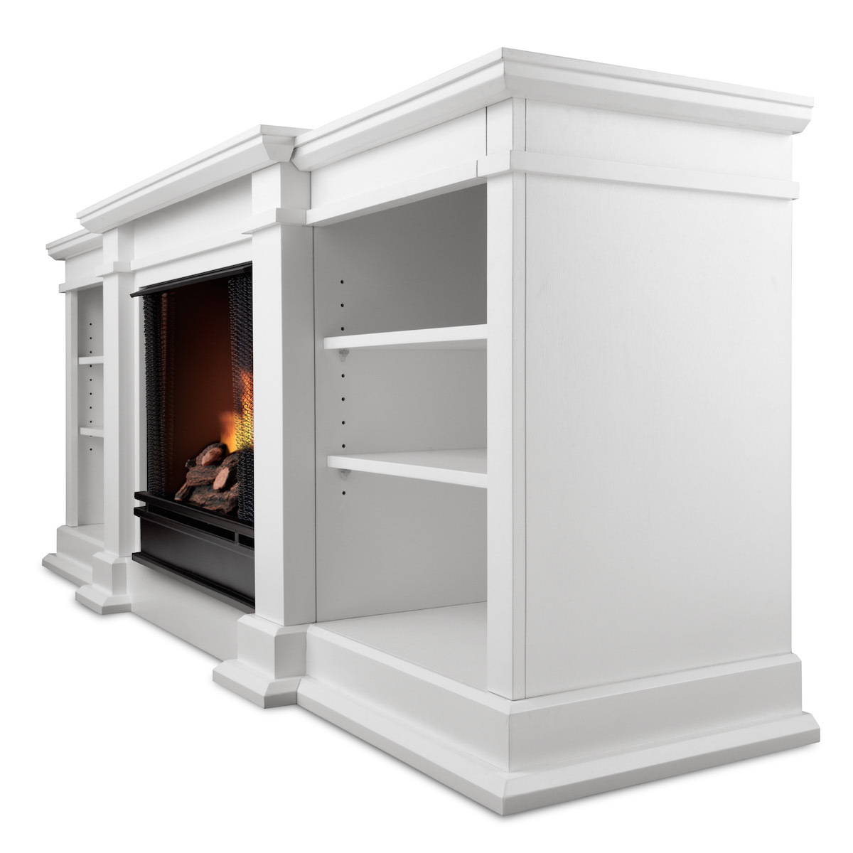 Real Flame Fresno Ventless Gel Fireplace In White