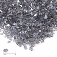 Real Flame Grey Reflective Fire Glass Filler