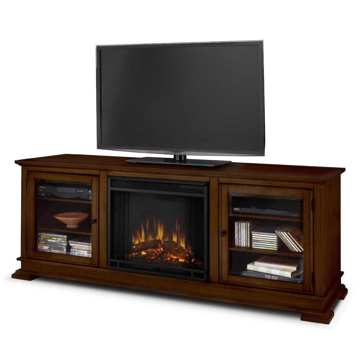 Real Flame Hudson Electric Fireplace In Espresso