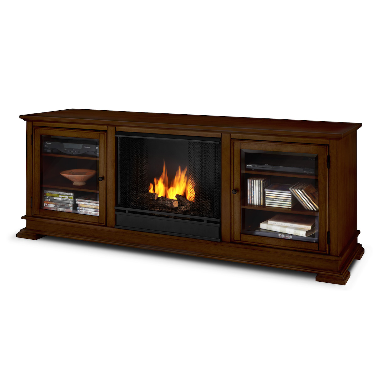 Real Flame Hudson Ventless Gel Fireplace In Espresso