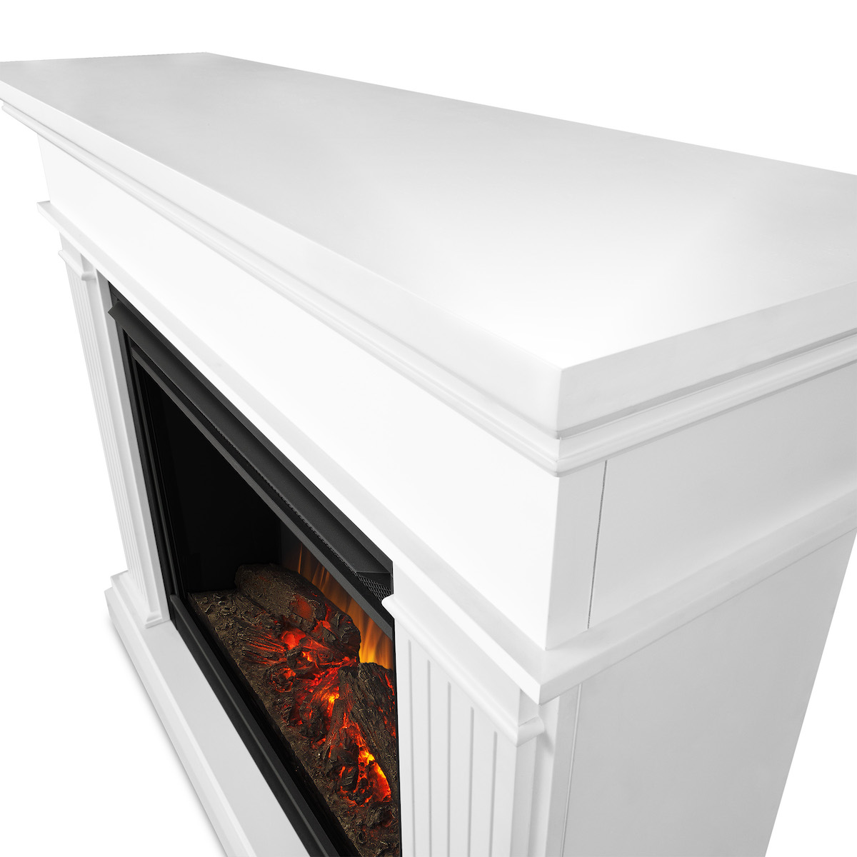 Real Flame Kennedy Grand Electric Fireplace In White