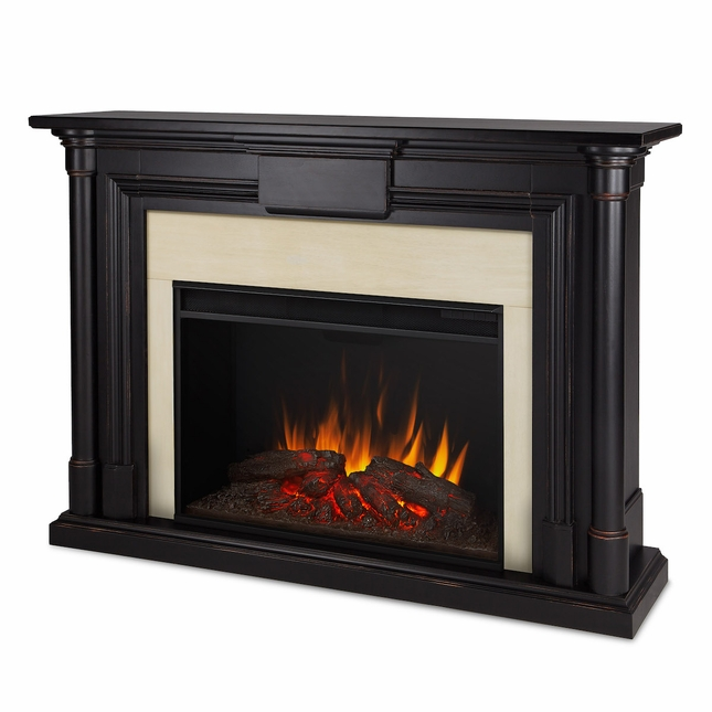 Real Flame Maxwell Grand Electric Fireplace in Blackwash