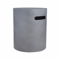 Real Flame Mezzo Round Tank Cover in Flint Gray