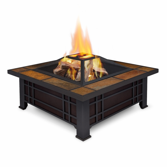 Real Flame Morrison Outdoor Wood Burning Fire Pit