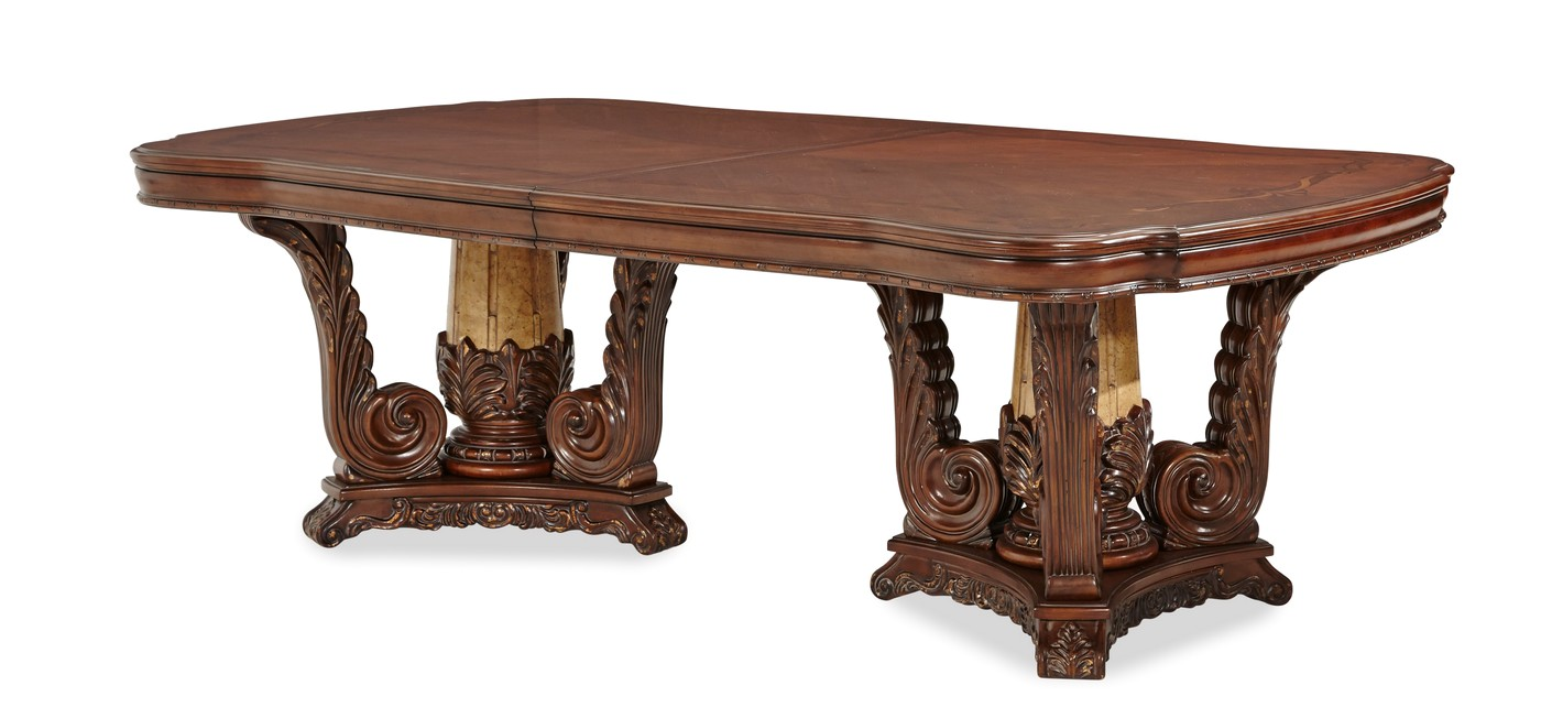 Michael amini victoria palace dining room rectangular for Dining room tables victoria
