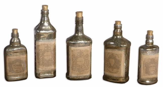 Recycled Bottles Traditional Set of 5 Bottles 19754
