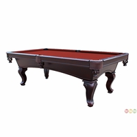 Red Queen Anne Style 3 Piece Slate Pool Table