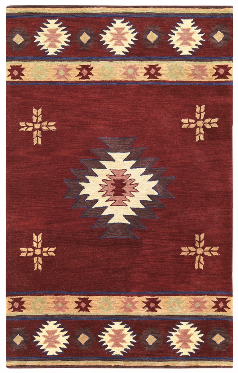 Rizzy Rugs Red Southwest Hand Tufted Area Rug Southwest Su2009