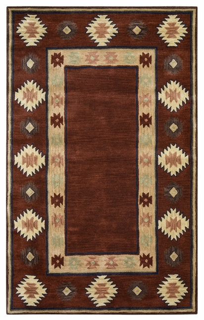 Rizzy Rugs Red Southwest Hand Tufted Area Rug Southwest SU2014