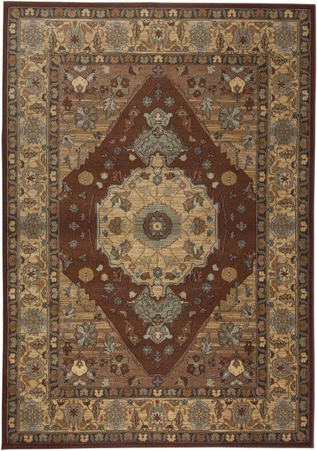Rizzy Rugs Red Traditional Power Loomed Area Rug Bellevue BV3200