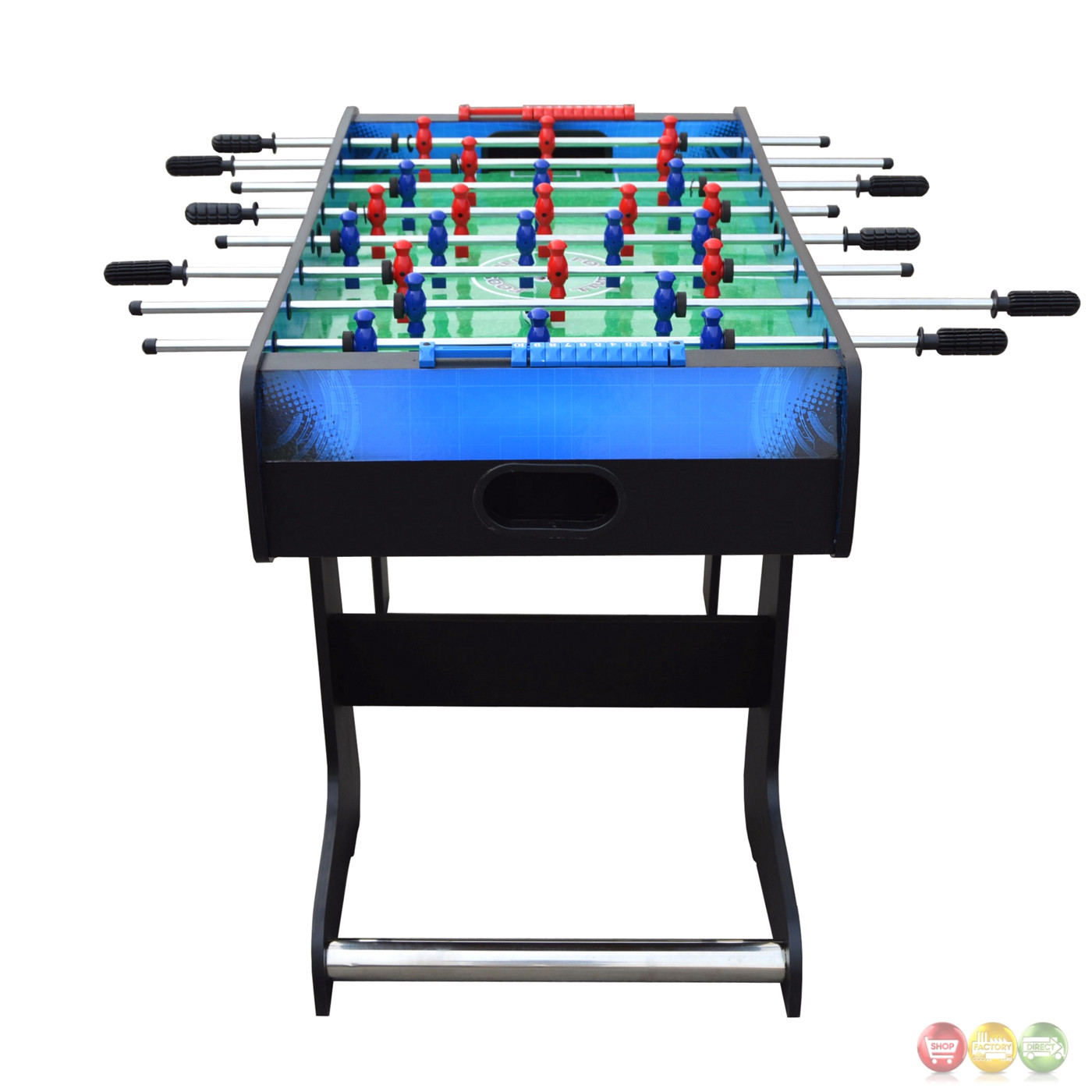 Red vs blue gladiator 48 foosball game table with fold away design - Fold away table ...