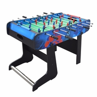 "Gladiator Red vs Blue 48"" Foosball Soccer Game Table with Fold Away Design"