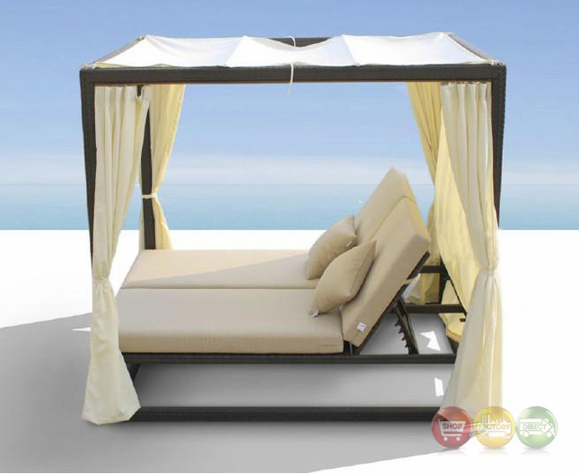 Redondo Patio Canopy Day Bed Cabana With Dual Adjustable