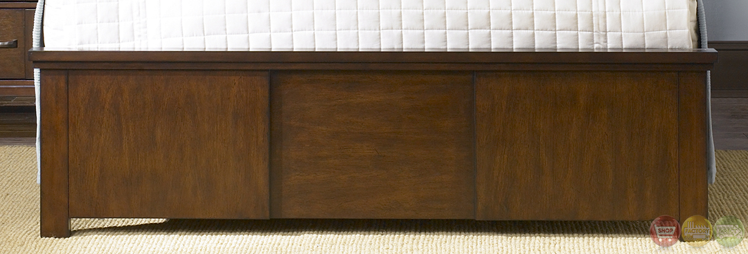 reflections contemporary amaretto finish panel bedroom set