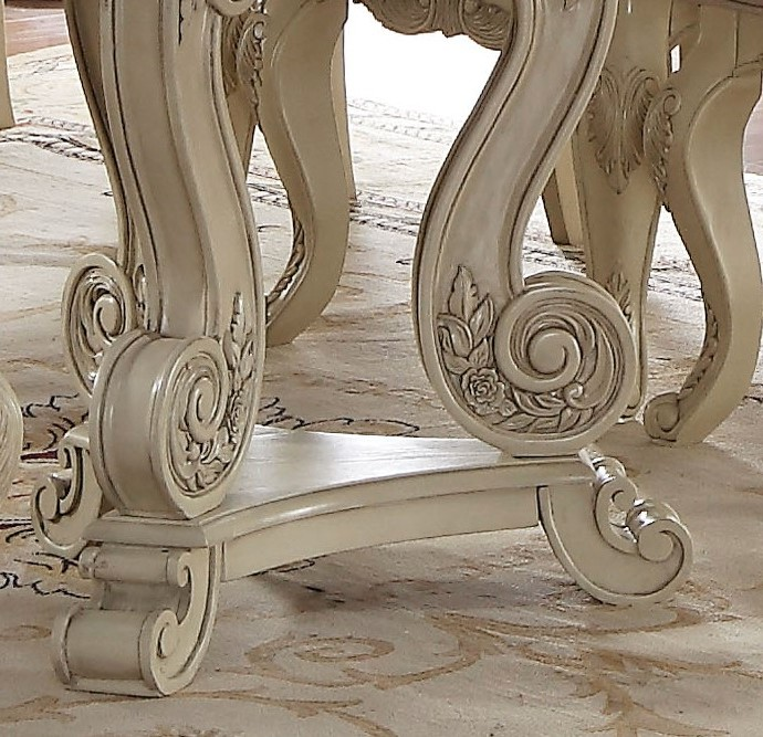 Orleans Ii White Wash Traditional Formal Dining Room: Reginald Antique White Formal 5-pc Double Pedestal 90-114