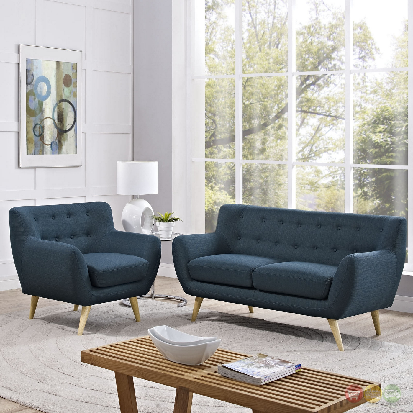 Living Room Ideas 2015 Top 5 Mid Century Modern Sofa: Mid-Century Modern Remark 2pc Button-Tufted Living Room