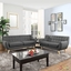 Mid-Century Modern Remark 2pc Button-Tufted Living Room Set, Gray