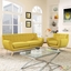 Mid-Century Modern Remark 2pc Button-Tufted Living Room Set, Sunny