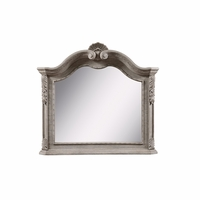 Renaissance Carved Bevel Dresser Mirror In Antique Grey