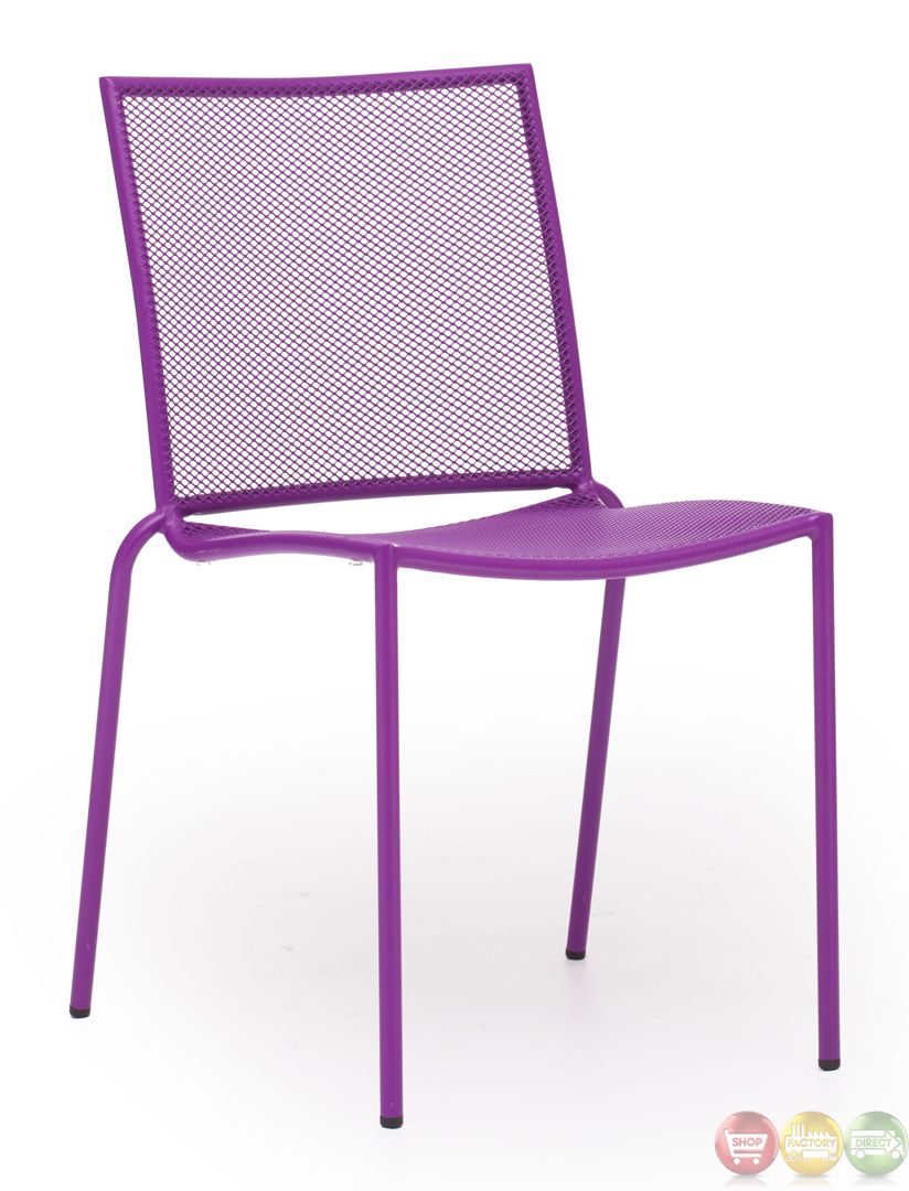 Repulse bay purple dining chair zuo modern 703051 modern for Modern outdoor dining chairs