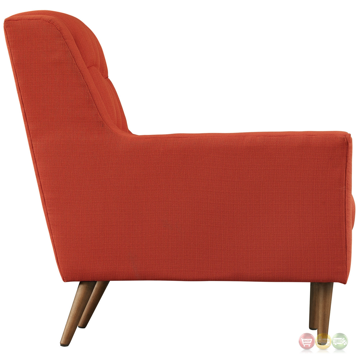 Response contemporary button tufted upholstered armchair for Armchair builder