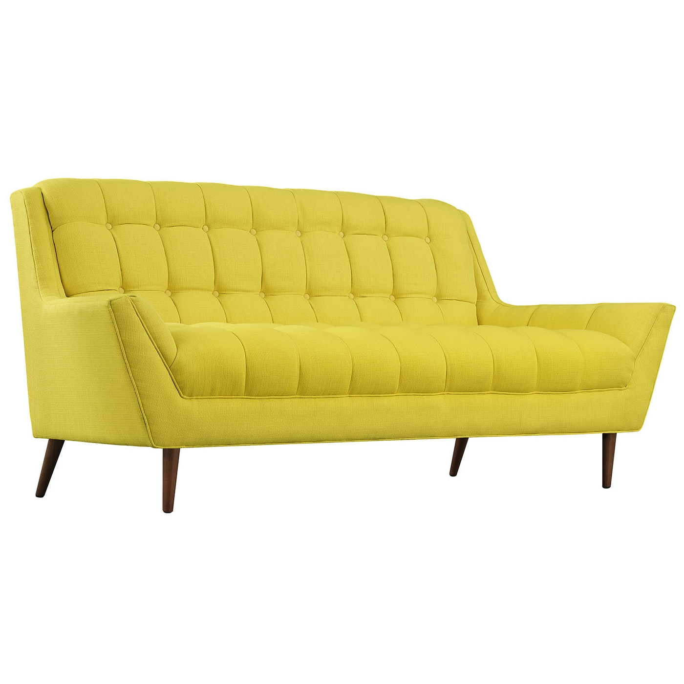 Response Contemporary Button Tufted Upholstered Loveseat Sunny