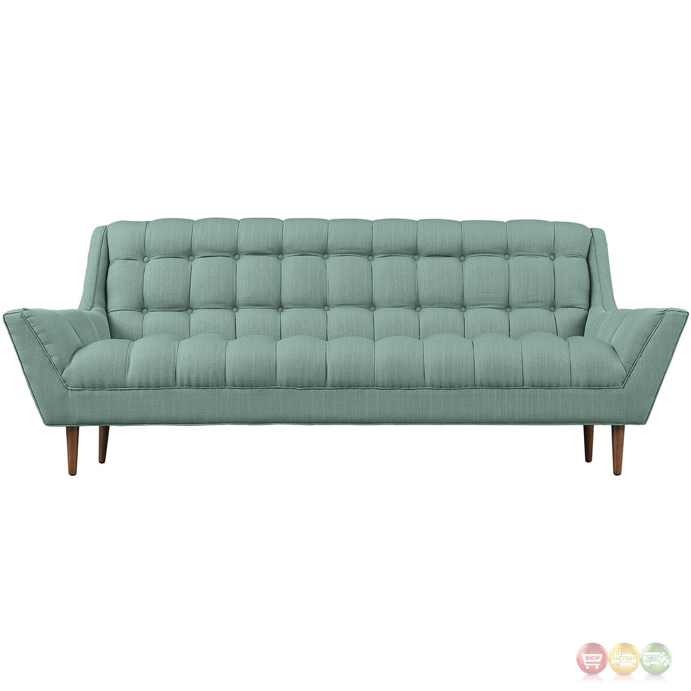 Response Contemporary Button Tufted Upholstered Sofa Laguna
