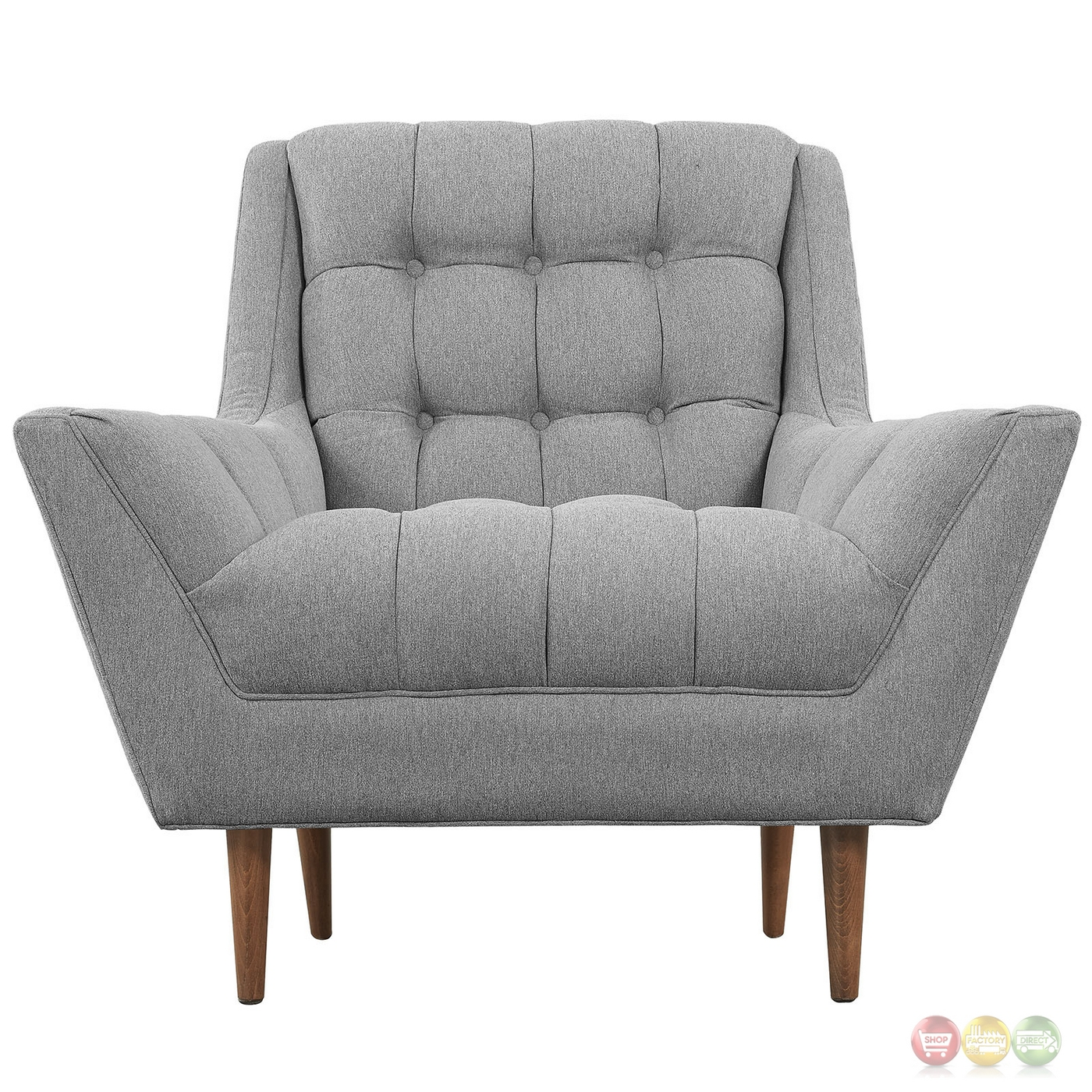 Response mid century modern armchair w matching ottoman for Armchair builder