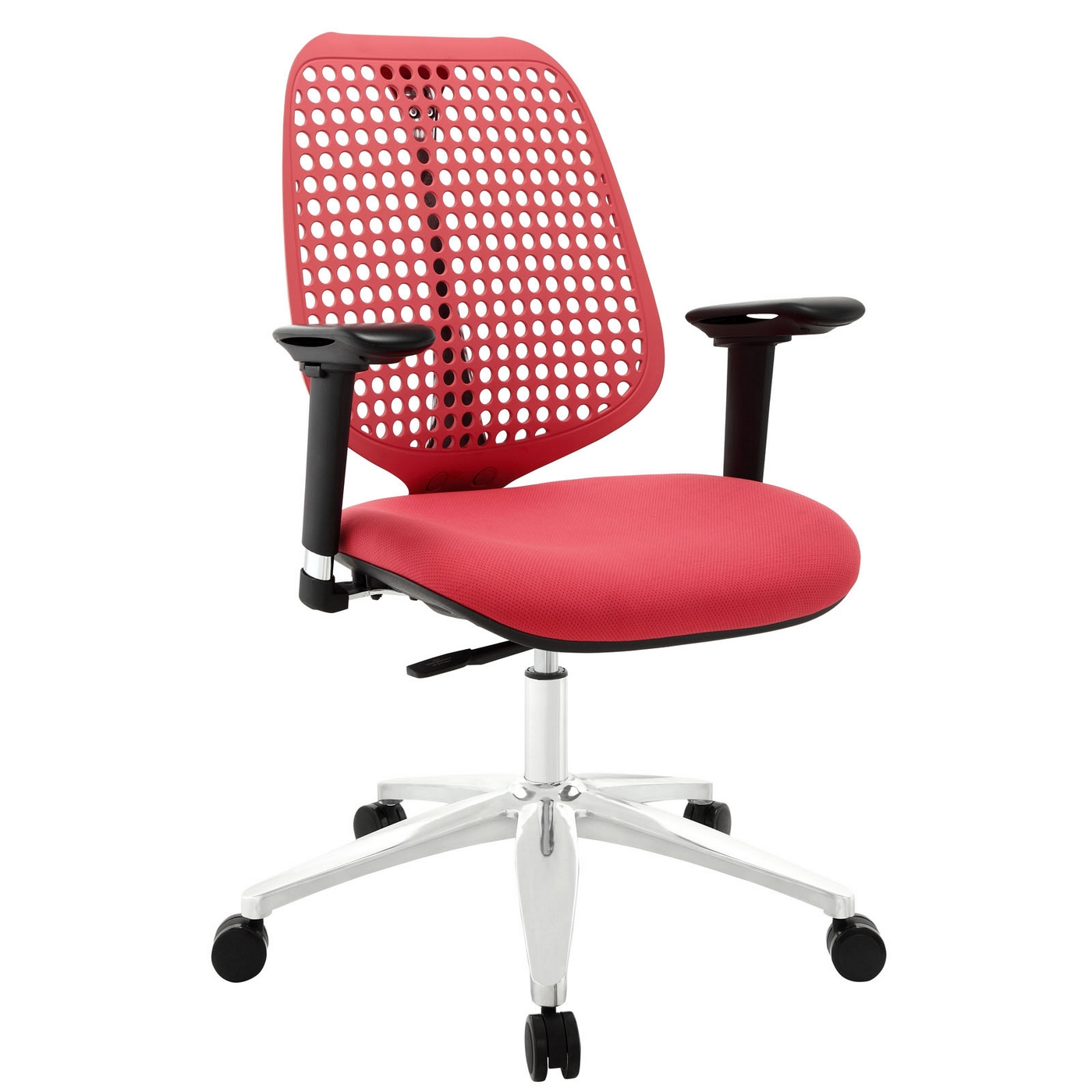 reverb modern office chair with mesh back upholstered