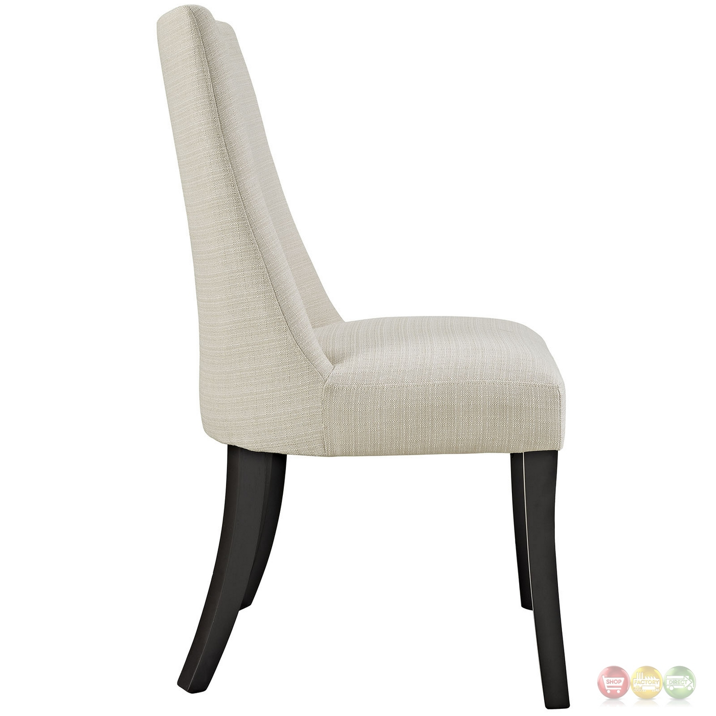 Reverie contemporary upholstered dining side chair beige for Upholstered dining chairs contemporary