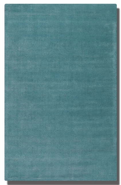 Rhine Cerulean Blue Hand Tufted Wool Rug 73037