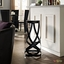 Ribbon Modernistic Aluminum Bar Stool, Black