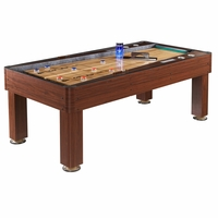 Ricochet 7-ft Shuffleboard Table With Wood Grain Finish & Drink Holders