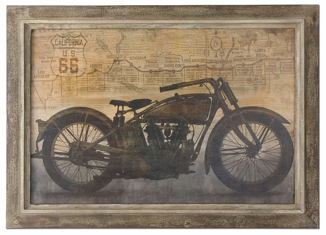 Ride Sand Texture Taupe Framed Art 51086