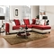 Riverstone Implosion Red Velvet Sectional