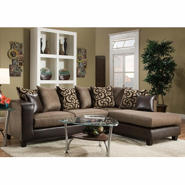 Riverstone Object Espresso Chenille Sectional