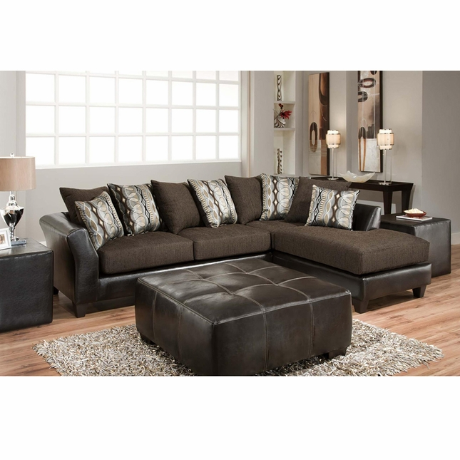 Riverstone Rip Sable Chenille Sectional