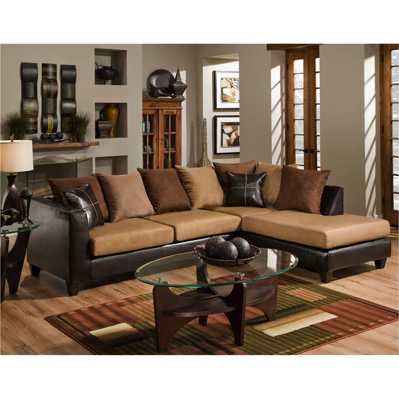 Super Details About Riverstone Sierra Chocolate Microfiber Sectional Sofa Brown Pdpeps Interior Chair Design Pdpepsorg